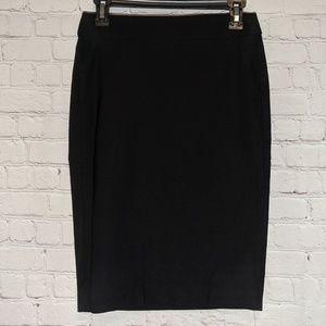 Elle Stretchy Black Knee Length Pencil Skirt Sz XS